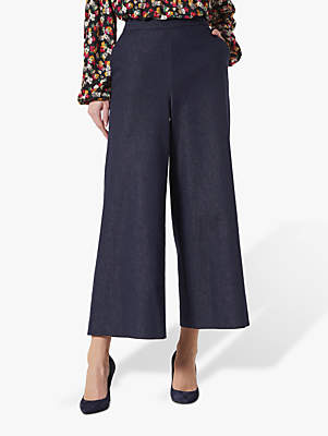 LK Bennett Emil Denim Wide Leg Trousers