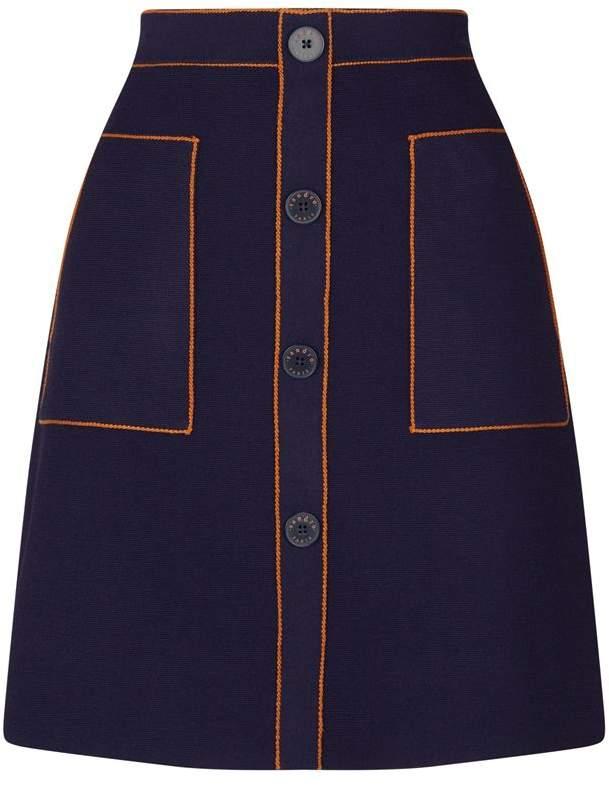 Sandro Knitted Contrast Skirt