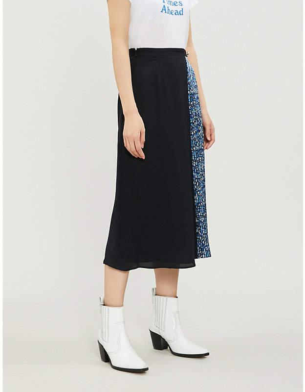 Claudie Pierlot Sweden patchwork-print georgette skirt