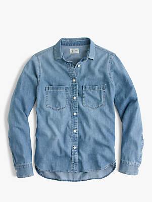 J.Crew Everyday Chambray Shirt, Madera Wash Denim