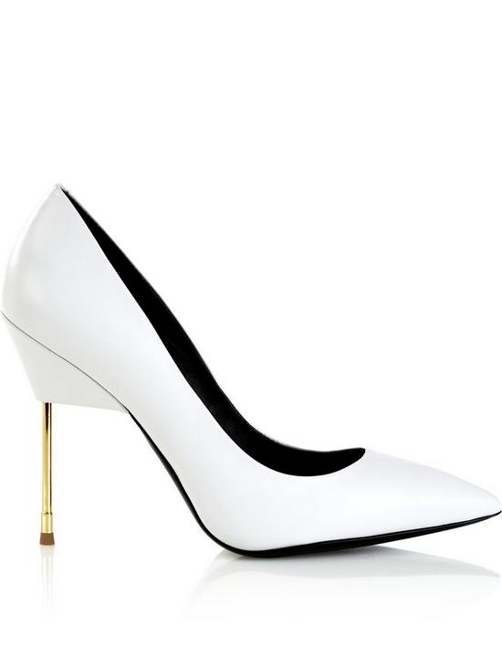 Kurt Geiger Britton Full Court Metal Heeled shoes