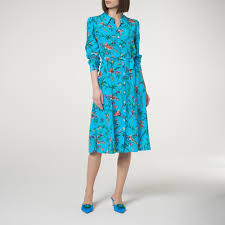 LK Bennett Runa Blue Silk Dress v2