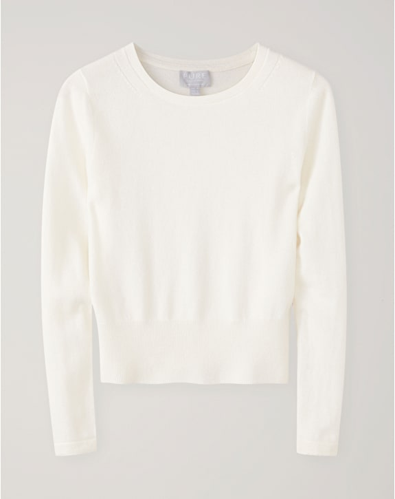 Pure Collection Cashmere Cropped Sweater