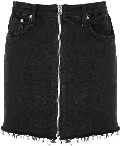 rag & bone Rag & Bone Anna Black Denim Mini Skirt