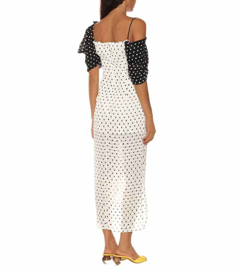 Rejina Pyo Layla polka-dot seersucker dress back view