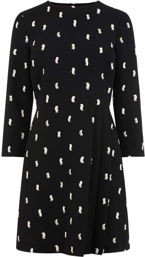 Womens Warehouse Black Kilt Pleat Mini Dress