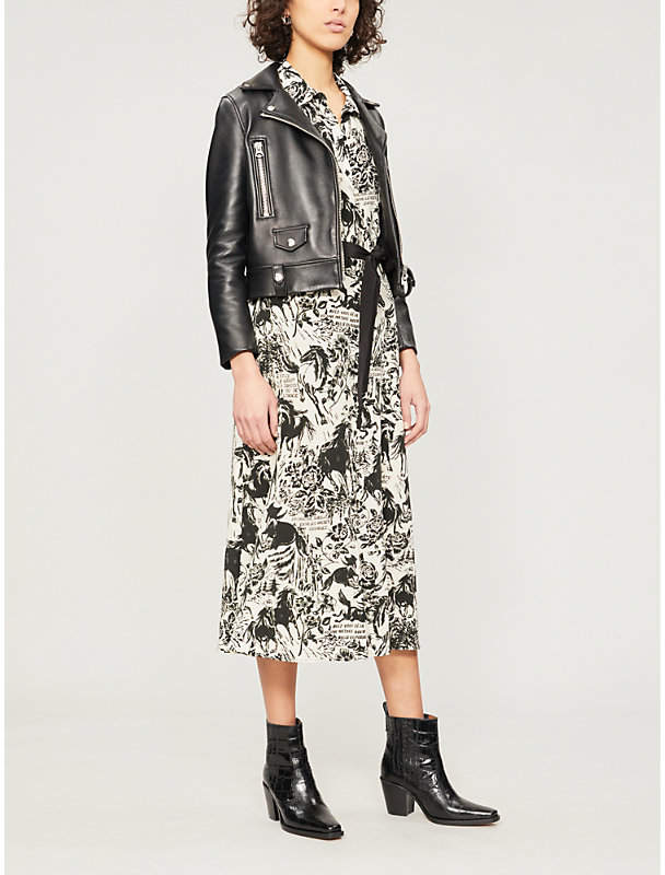 Claudie Pierlot Riviera graphic print silk-crepe dress