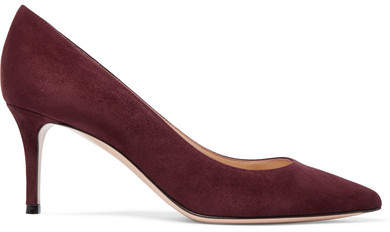 Gianvito Rossi - 70 Suede Pumps - Burgundy