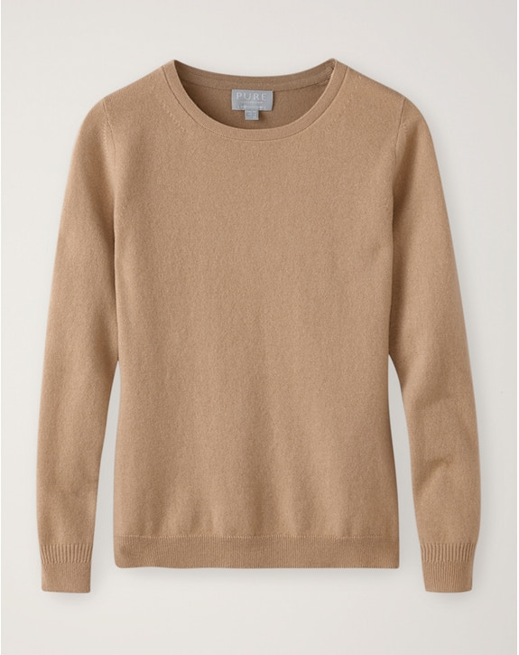 Pure Collection Cashmere Straight Fit Crew Neck Sweater