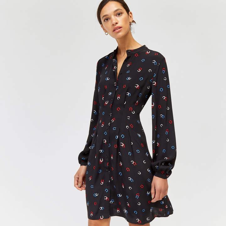 Warehouse Horseshoe Print Shirt Dress