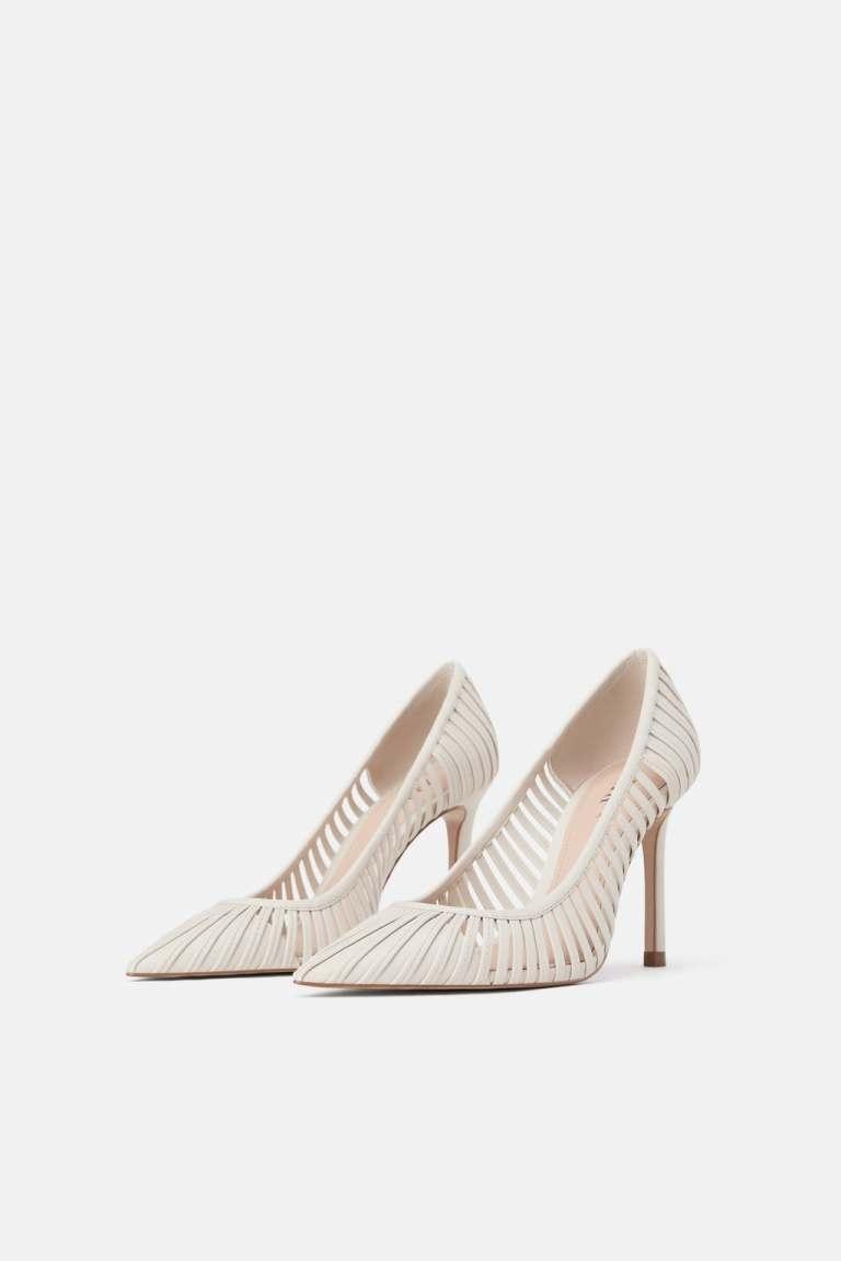 Zara strappy high heel shoes