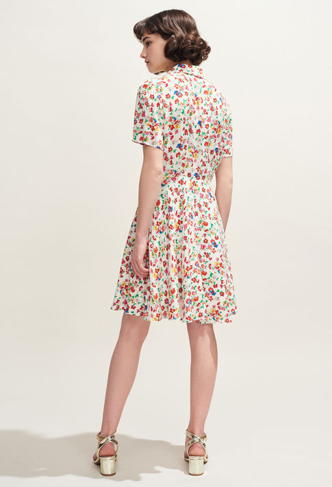 Claudie Pierlot Floral Print Shirt Dress back view