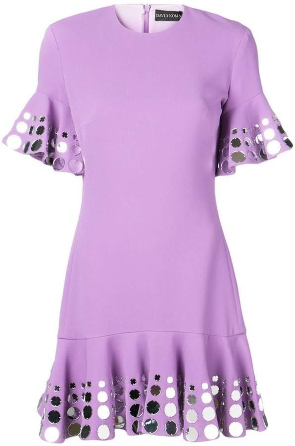 David Koma cocktail short dress