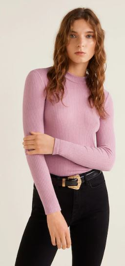 Mango long sleeve t-shirt pink v5