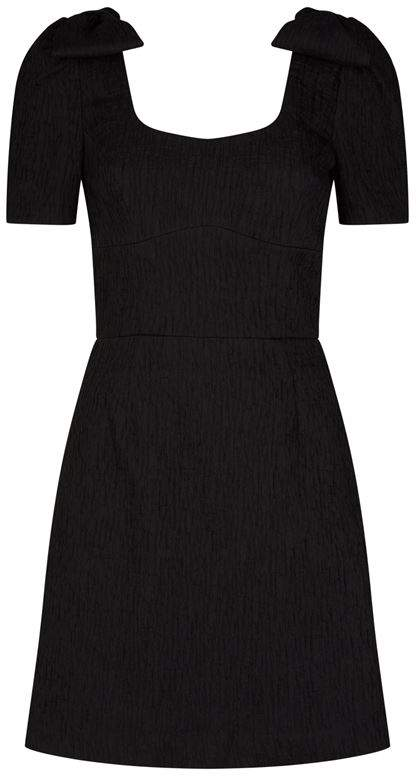 Rebecca Vallance Harlow Bow Shoulder Mini Dress