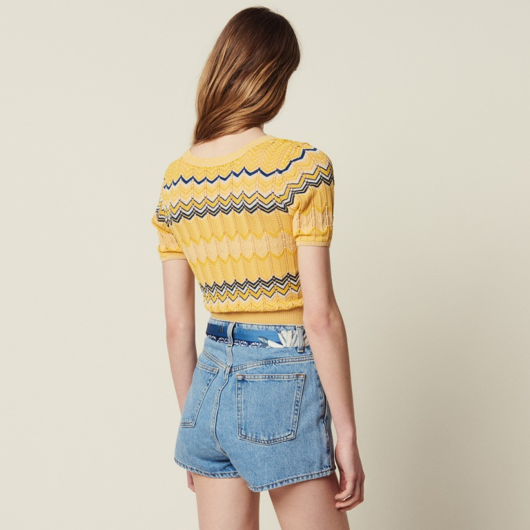 Sandro Wrapover Knit top back view