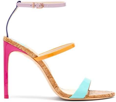 Sophia Webster - Rosalind Rainbow Cork Sole Sandals
