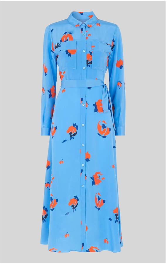 Whistles Elfrida Bud Print Silk Dress