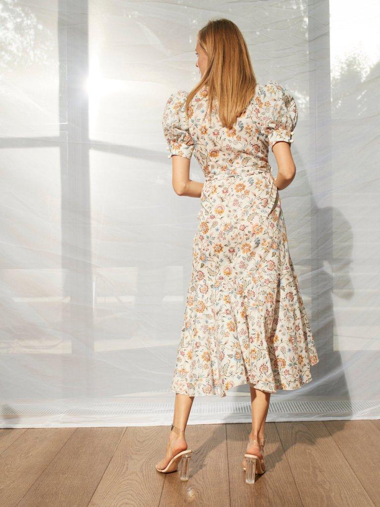 Anna Mason Stella Midi short Sleeved Dress back view