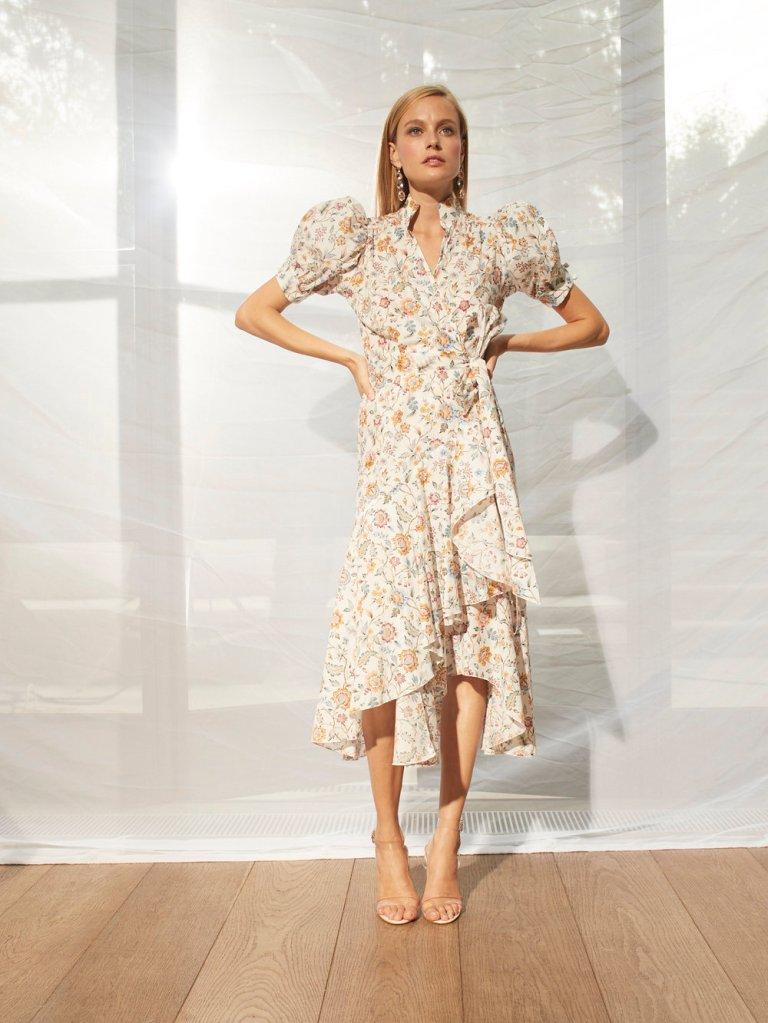 Anna Mason Stella Midi short Sleeved Dress