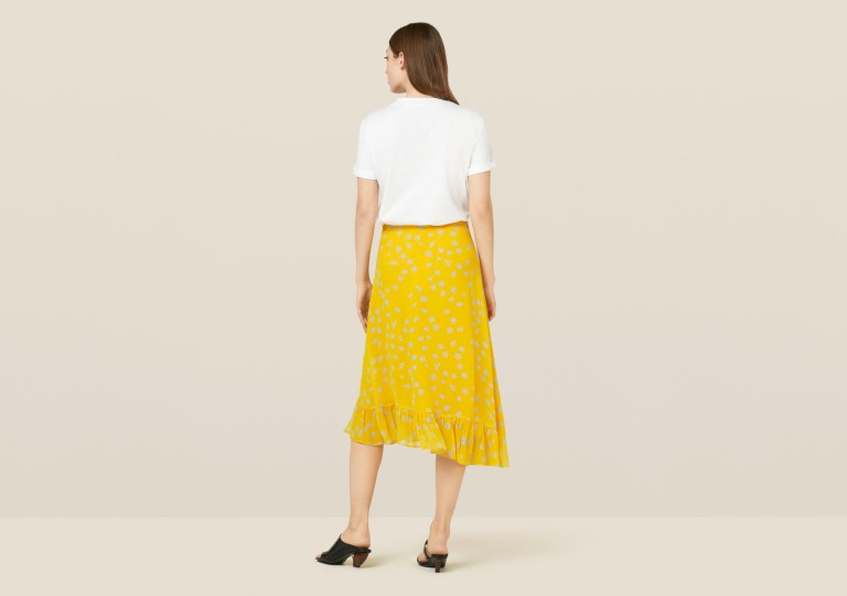 Finery London Ebba Turmeric Floral skirt back view
