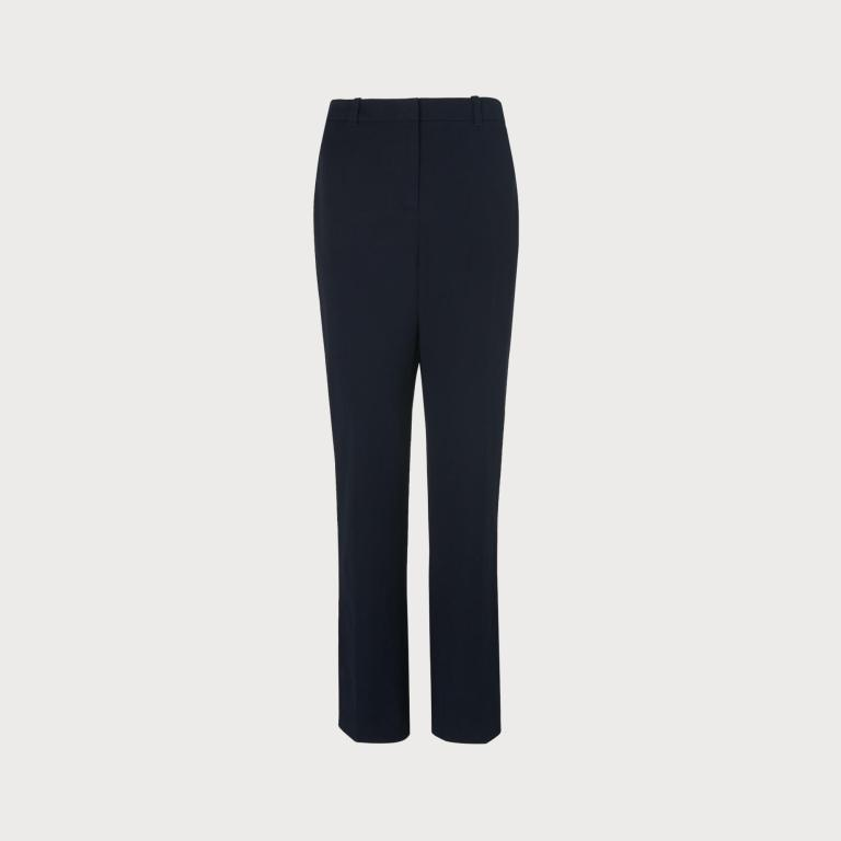 LK Bennett Lily Navy Stretch Trousers