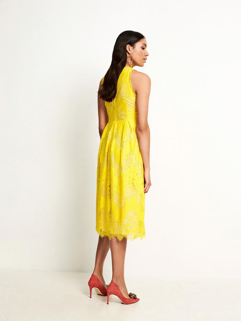 SAND Copenhagen Yellow Noam Dress back view