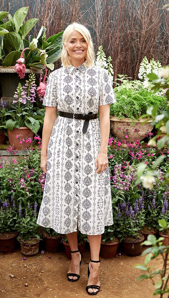 where to find holly willoughby monochroma floral dress June 2019 photo Marks and Spencer