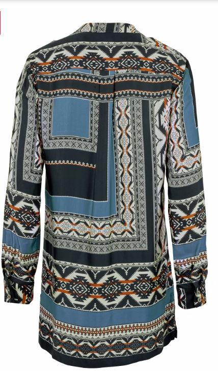 Artigiano tunic in on-trend pattern mix back view
