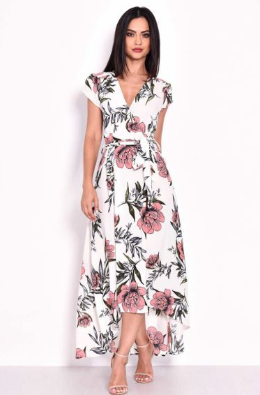 AX Paris Floral Maxi Wrap Dress