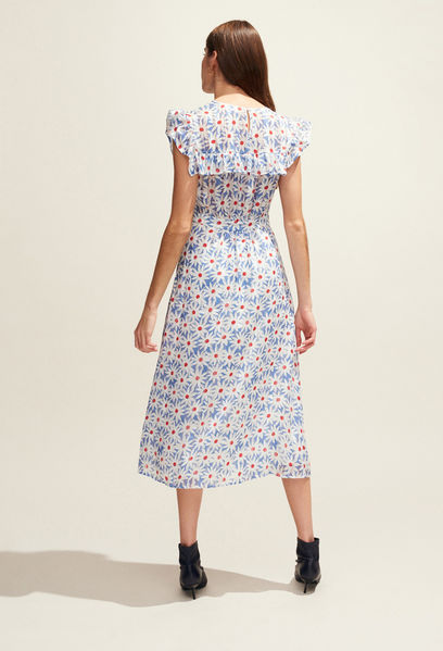 Claudie Pierlot Daisy Print Dress back view