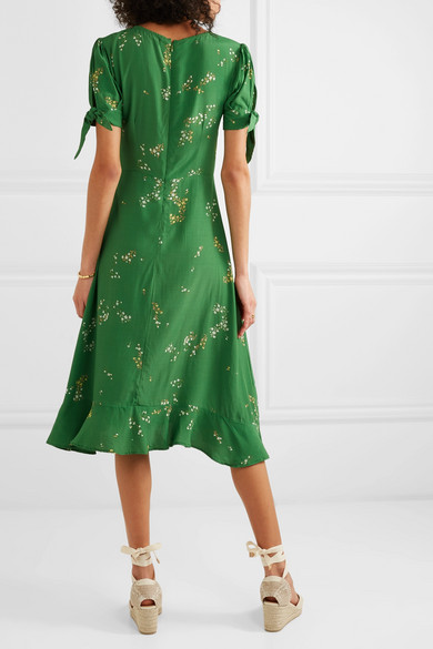 Faithfull The Brand Emilia Floral Midi Dress back view