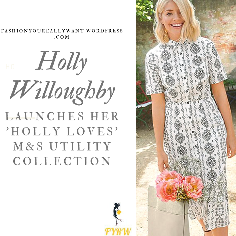 where to find Holly Willoughby monochrome floral dress and shirt,tan short, crema mini skirt white or khaki shirt white or tan bag khaki jumpsuit July 2019