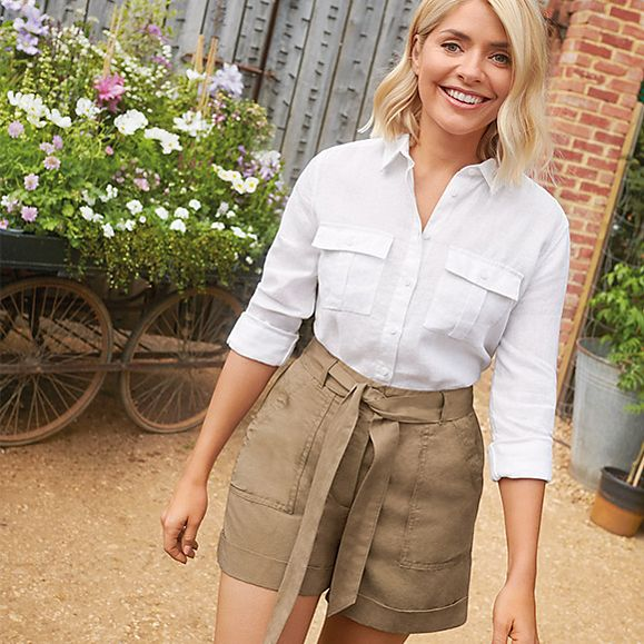 how to find holly willoughby M&S Holly Loves Utility collection sand shorts Photo M&S