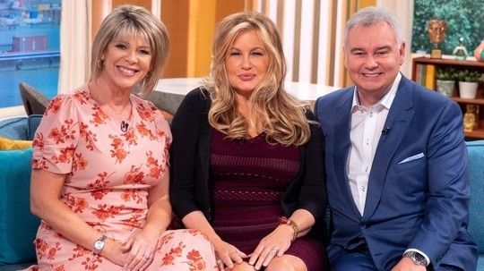 How to Find Ruth Langsford This Morning outfit today pink floral maxi dress July 2019 photo ITV com