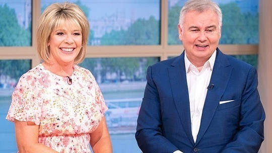 how to find Ruth Langsford This Morning outfit today pink floral midi dress July 2019 photo ITV com