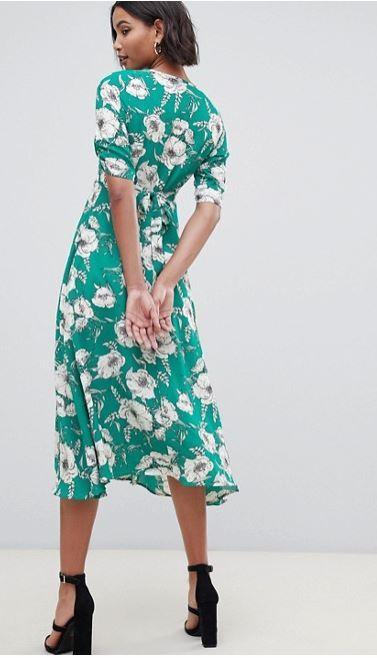 Liquorish a-line midi dress with keyhole back view