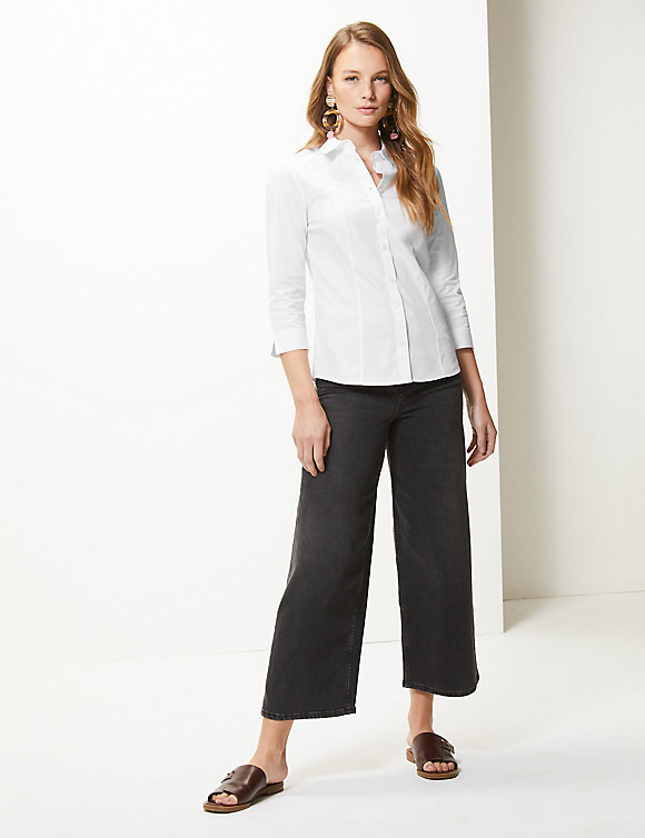 M&S collection 3 4 Sleeve Shirt