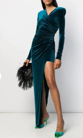 Alexandre Vauthier side slit dress