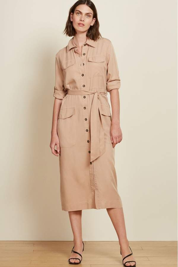 Baukjen Cream Lindon Utility Dress