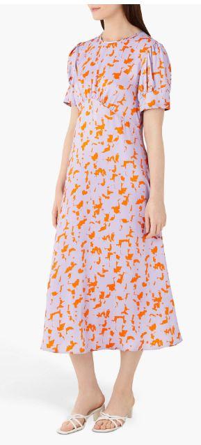 Finery Kamila Megan Abstract Print Midi Dress v2