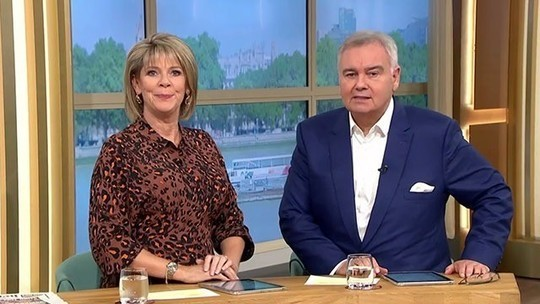How to find Ruth Langsford This Morning outfit today brown leopard print dress August 2019 photo ITV com