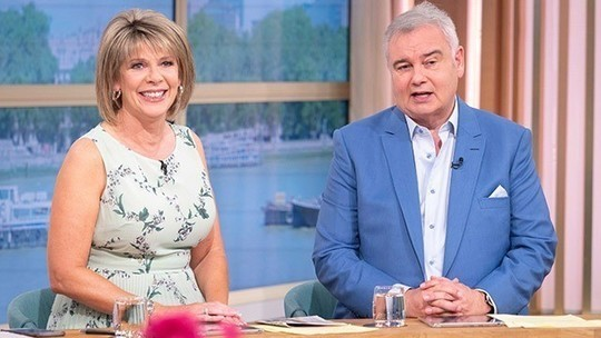 how to find Ruth Langsford This Morning outfit today green floral pleated dress August 2019 photo ITV com