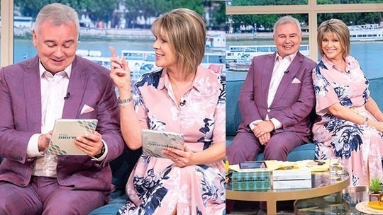 How to find ruth Langsford This Morning outfit today pink floral shier dress August 2019 photo ITV com