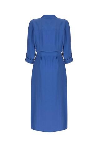 Mint Velvet Azure Belted Shirt Dress back view