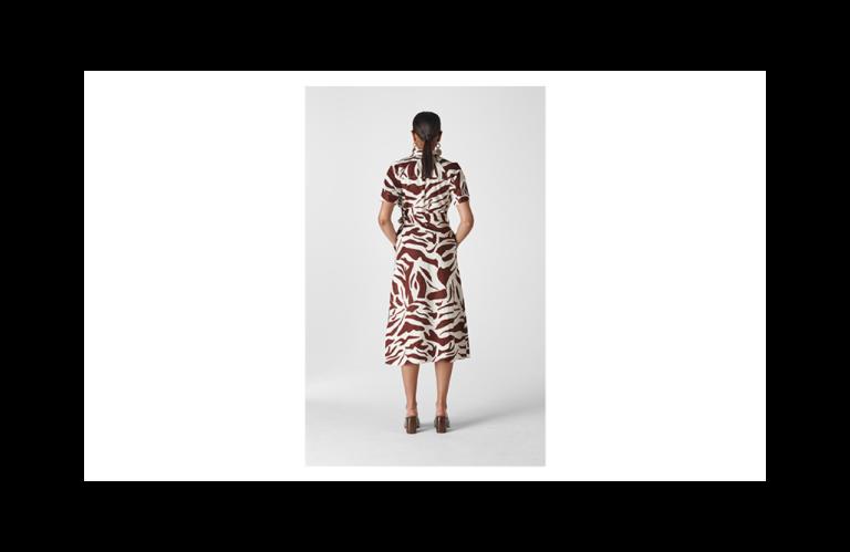 Whistles Graphic Zebra Shirt Dress back view