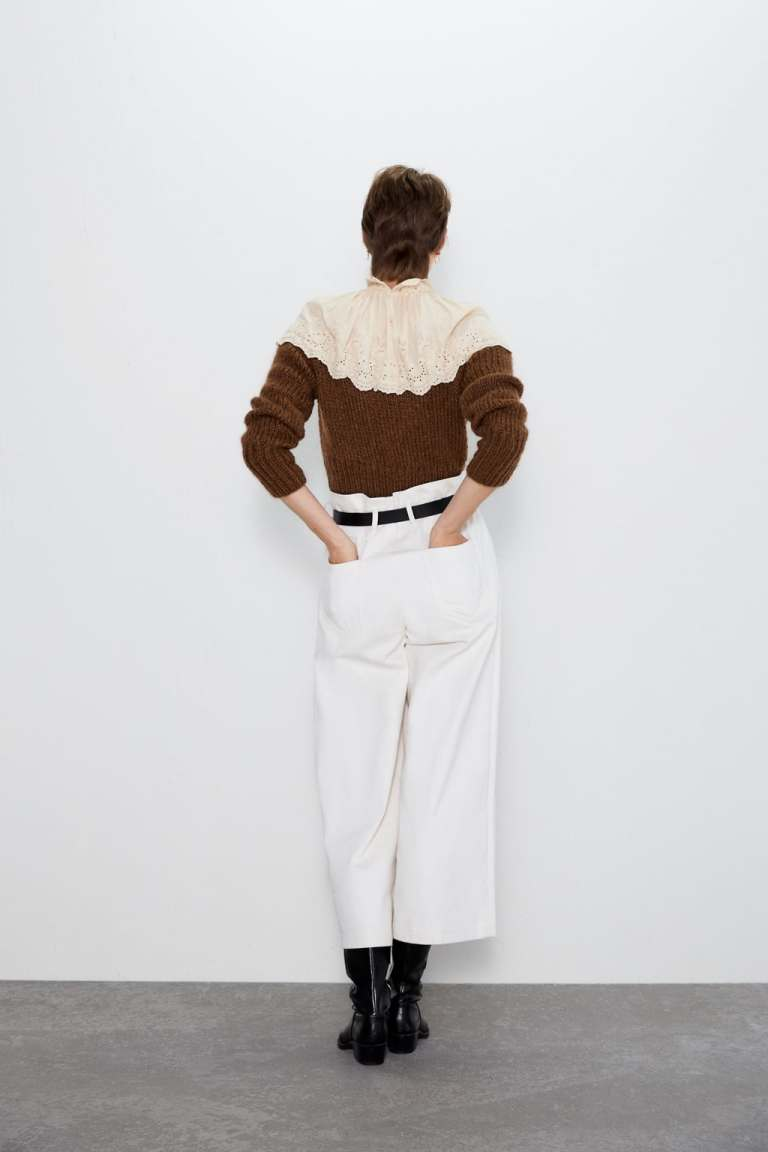 Zara Wide Trousers with Belt back view