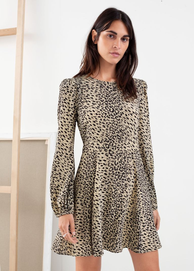 And Other Stories Flowy Leopard Print Mini Dress