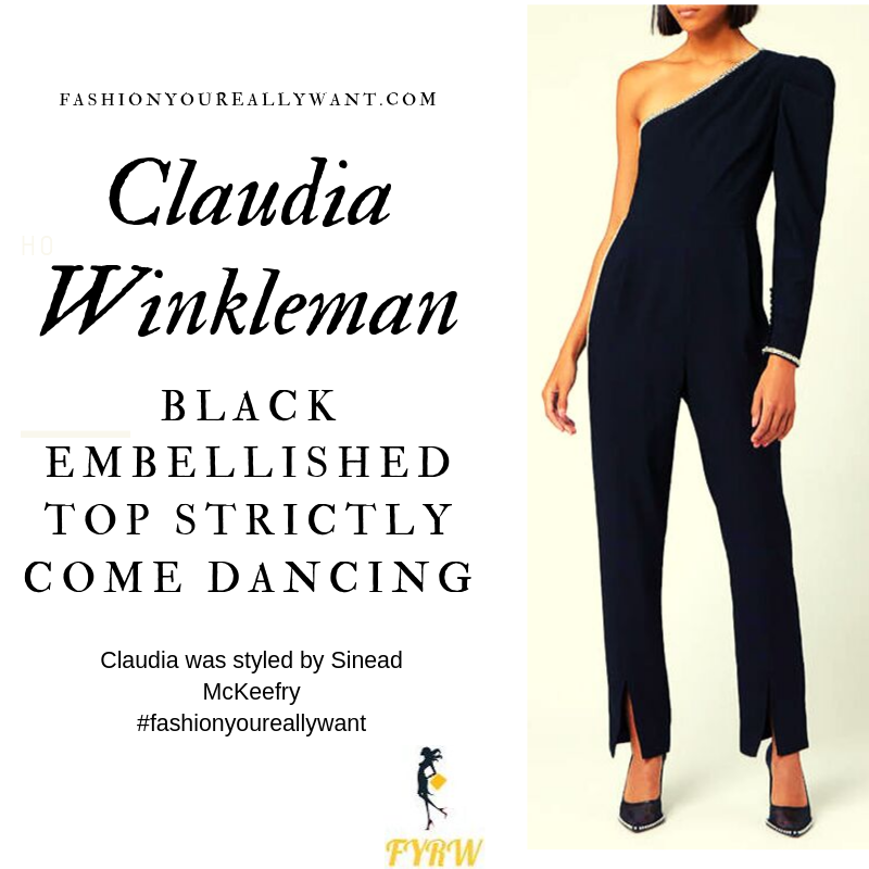 Claudia Winkleman wore a Black Embellished top and trousers Strictly Come Dancing Week 1 September 2019 outfit blog