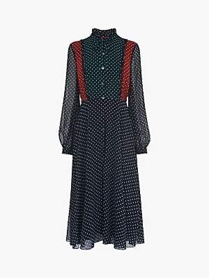 L.K.Bennett Filia Polka Dot Shirt Dress Multi